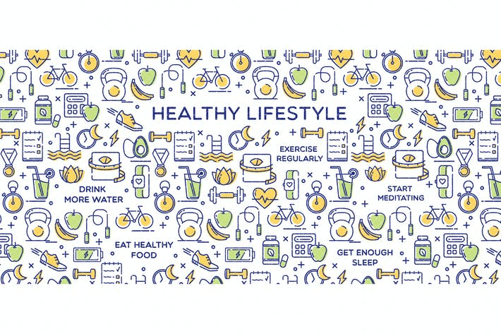 Healthy Lifestyle Conceptual Illustration