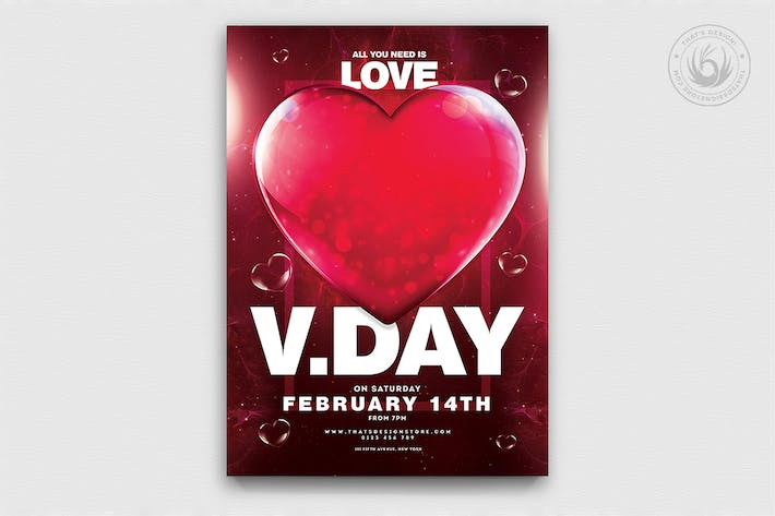 Thumbnail for Valentines Day Flyer Template V21