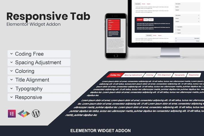 Thumbnail for Responsive Registerkarte Elementor Addon Plugin