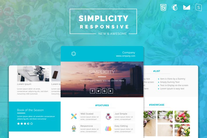 Thumbnail for Simplicity Responsive Email Template | Version 2