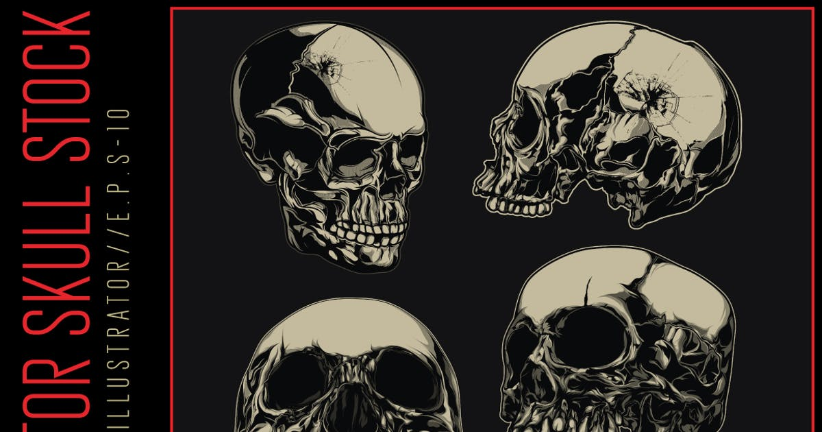 Download Vector Skull Stock by the-sastra