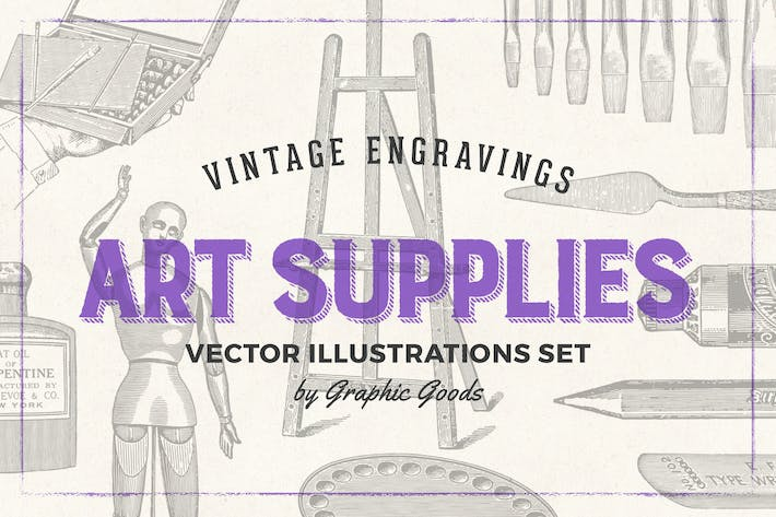 Thumbnail for Art Supplies - Vintage Engraving Illustrations