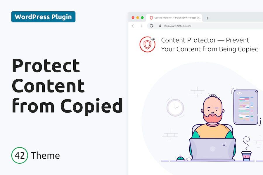 Protector de contenido: protege el sitio para que no se copien