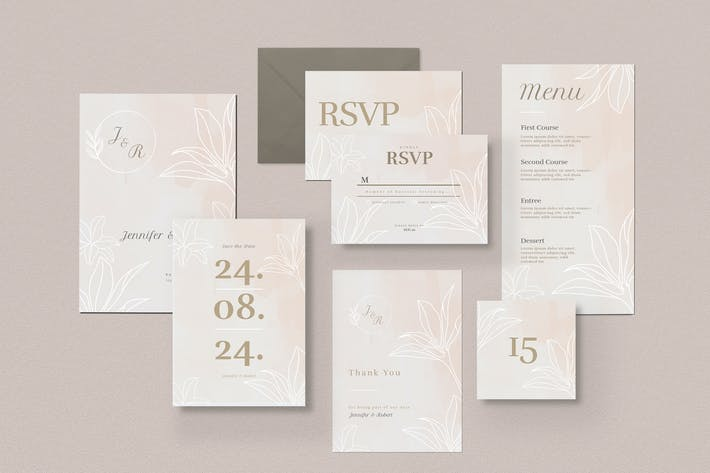 Thumbnail for Wedding Suite Invitation Pack