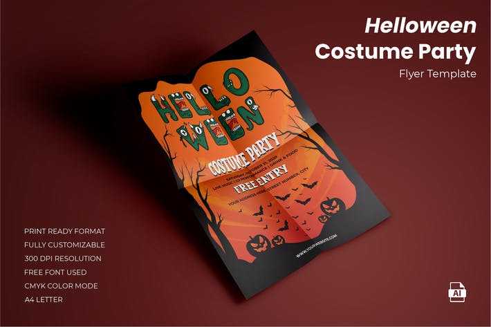 Helloween Costume Party Flyer Template