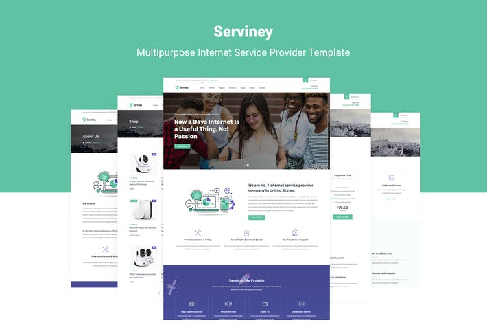 Thumbnail for Serviney - Internet Service Provider HTML Template