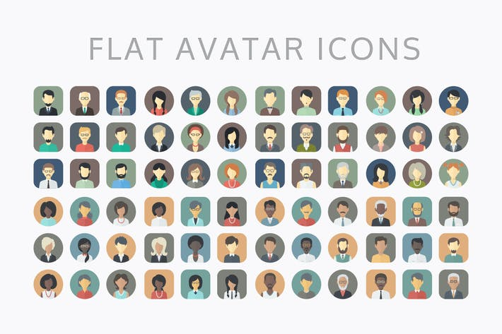 Thumbnail for Minimalistic Flat Persons Icons