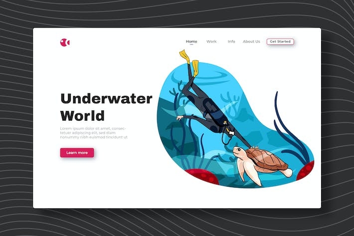 Thumbnail for Underwater World - Landing Page