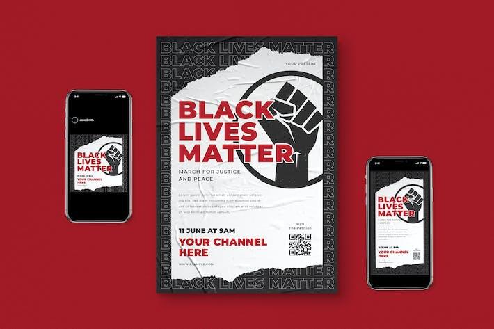 Black Live Matter Flyer Package