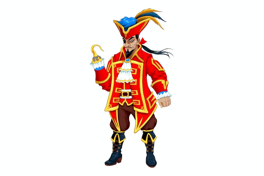 Red Pirate with Hook
