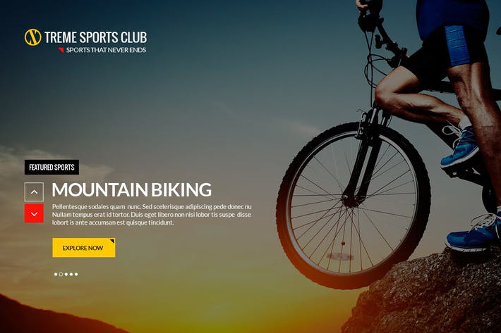Thumbnail for Xtreme Sports club - PSD Template