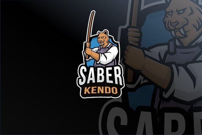 Saber Kendo Logo Template