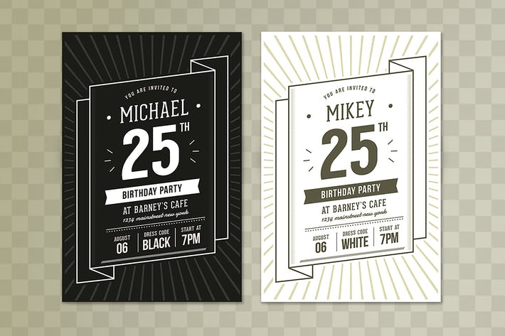 Thumbnail for Birthday Invitation Typography