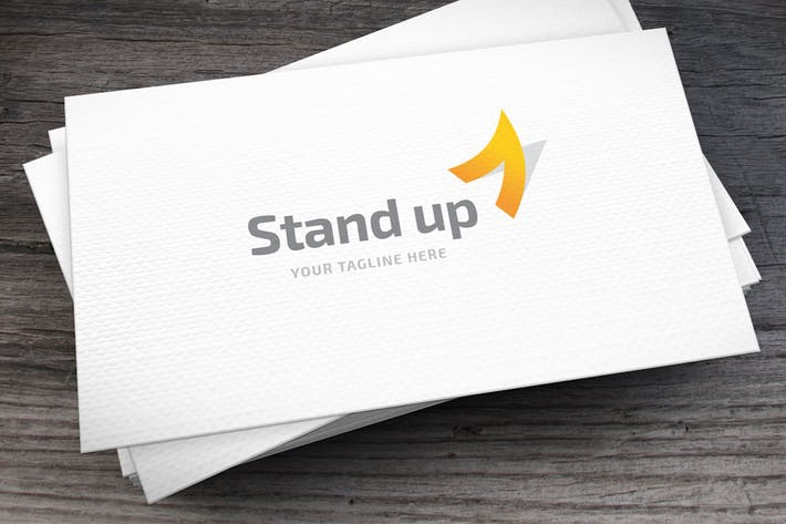 Thumbnail for Standup Letter A Logo Template