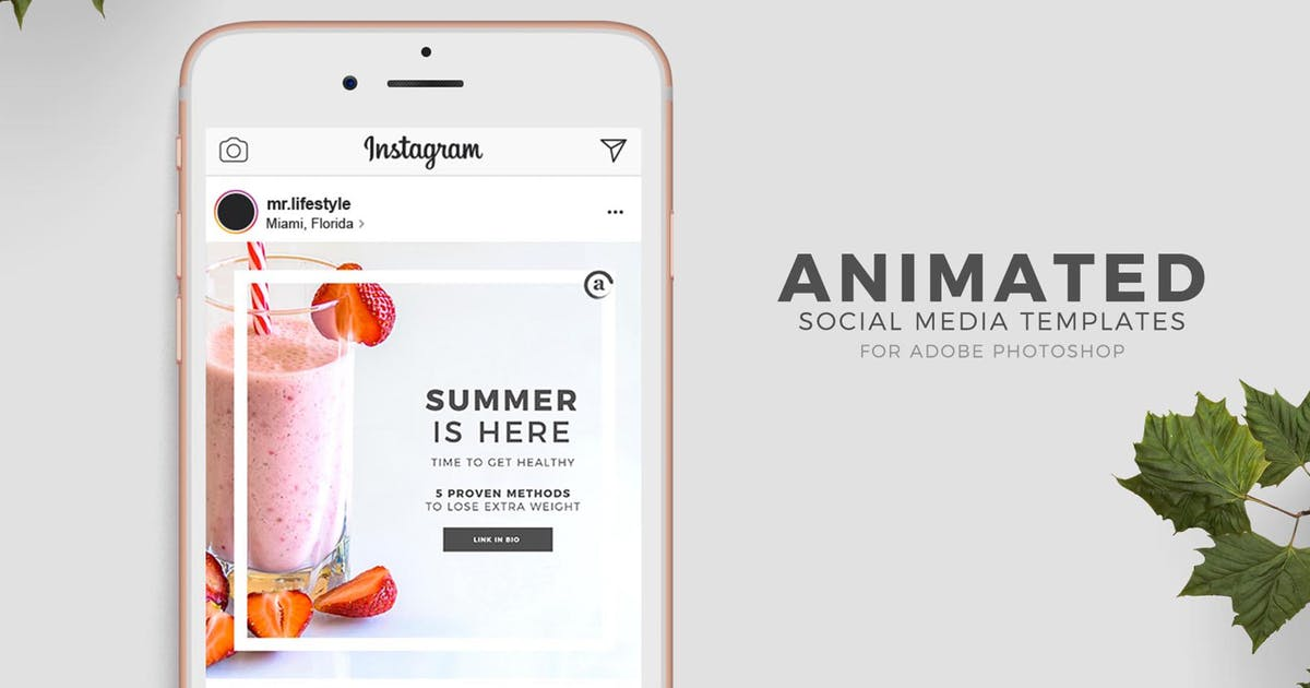 Photoshop Animated Social Media Templates by andrewtimothy