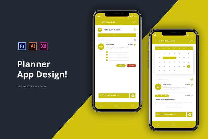 Thumbnail for Planner App Design
