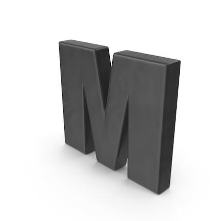 Imán para nevera alfabeto M