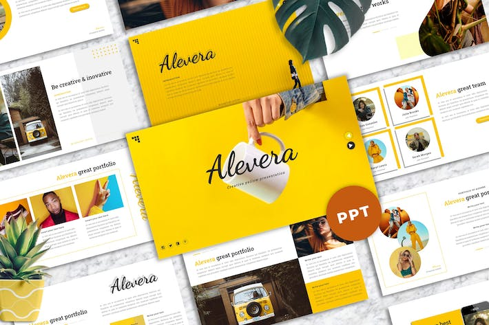 Thumbnail for Alevera - Creative Powerpoint Template