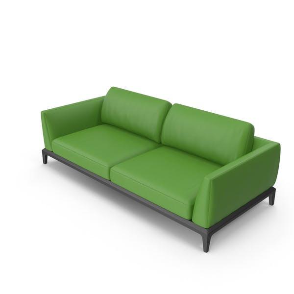 Thumbnail for Bürosofa aus Leder, Grün
