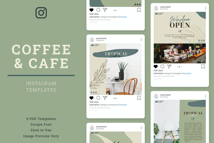 Thumbnail for Coffe and Cafe Instagram Post Template