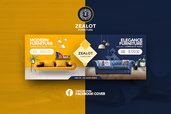 Thumbnail for Zealot - Furniture Store Facebook Cover Template