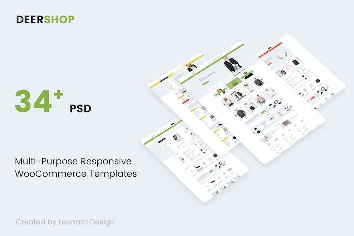 Thumbnail for DeerShop | Multi-Purpose Responsive Ecommerce PSD