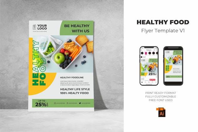 Healthy Food Flyer Design Vol. 01