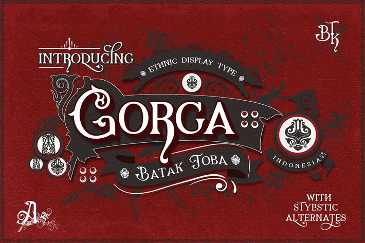 Thumbnail for Gorga Ethnic Display Font