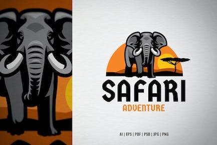 African safari elephant tour logo