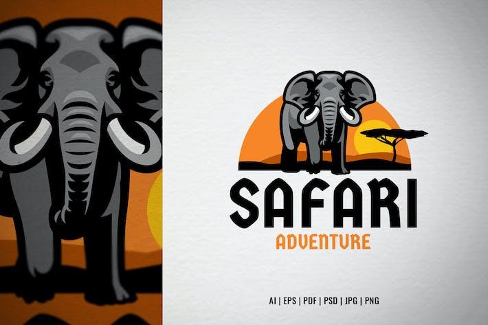 Logo der afrikanischen Safari-Elefanten