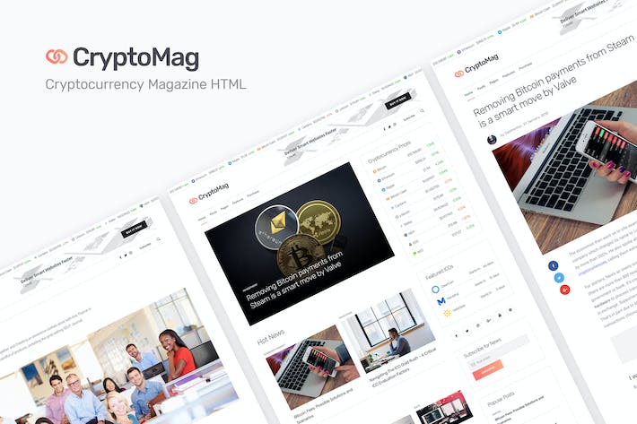 Thumbnail for CryptoMag - Cryptocurrency Magazine HTML Template