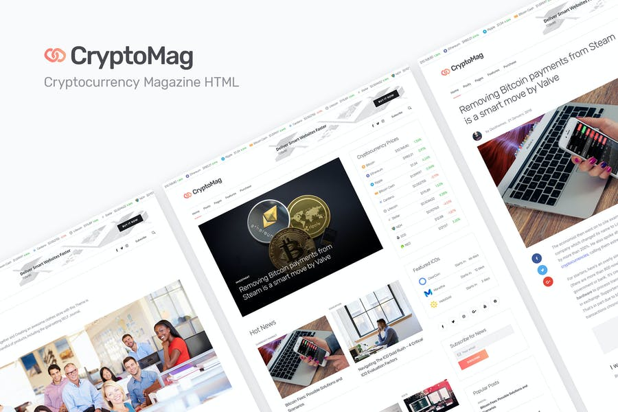 CryptoMag - Cryptocurrency Magazine HTML Template