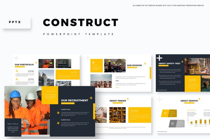 Thumbnail for Construct - Powerpoint Template