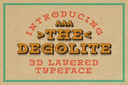 Degolite Extrude Typeface