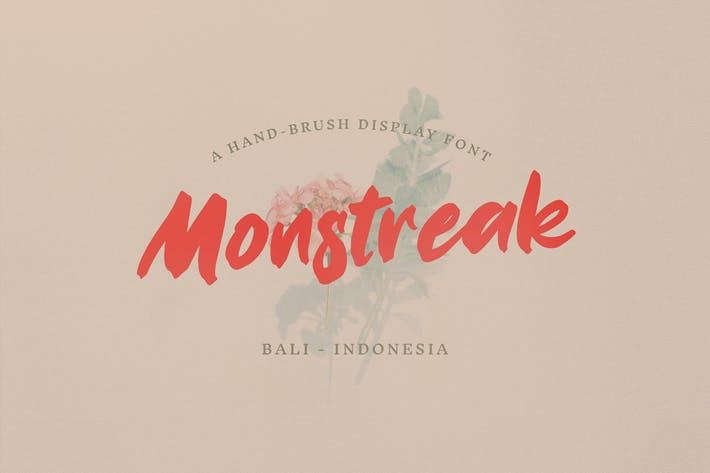 Thumbnail for Monstreak – Display Brush Font