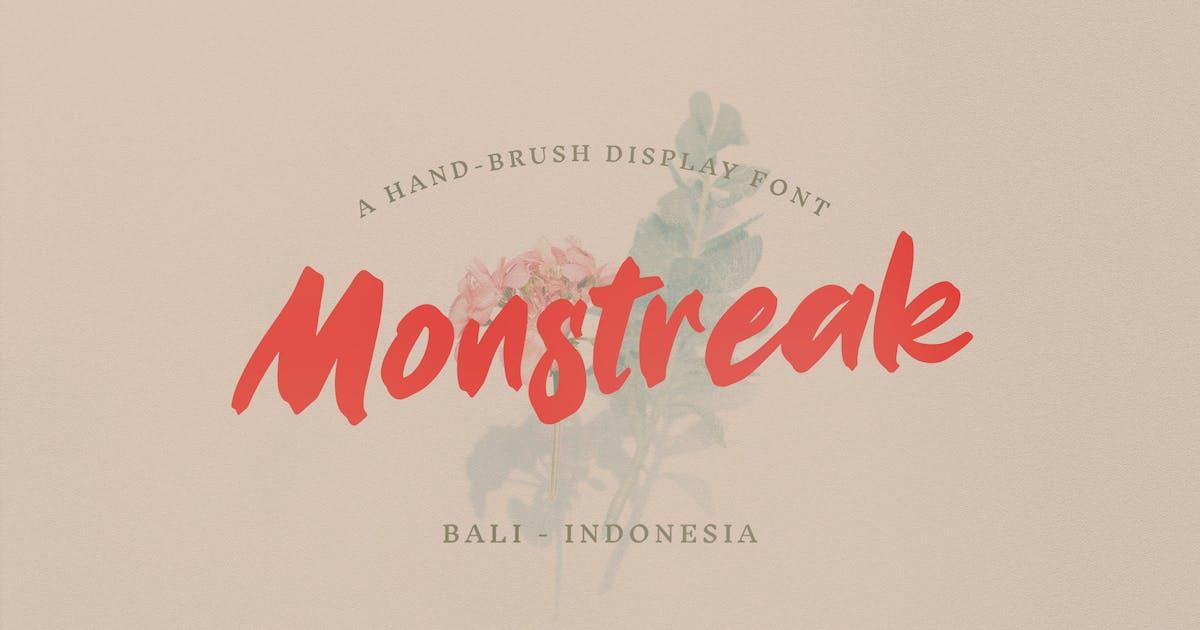 Download Monstreak – Display Brush Font by baliniz