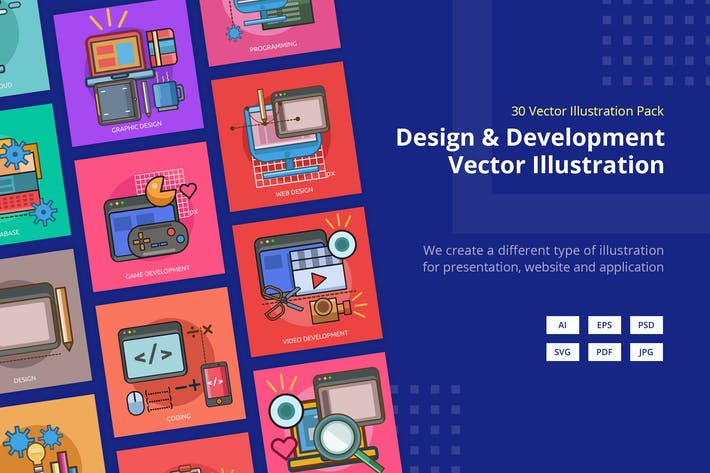 Cover Image For Design and Development Vector Illustration Vol.3