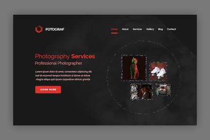 Fotograf -  Photography Landing page Hero Banner