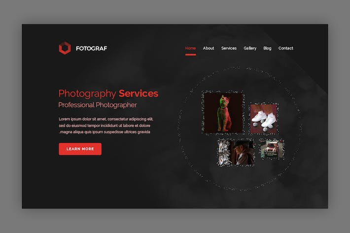 Thumbnail for Fotograf -  Photography Landing page Hero Banner
