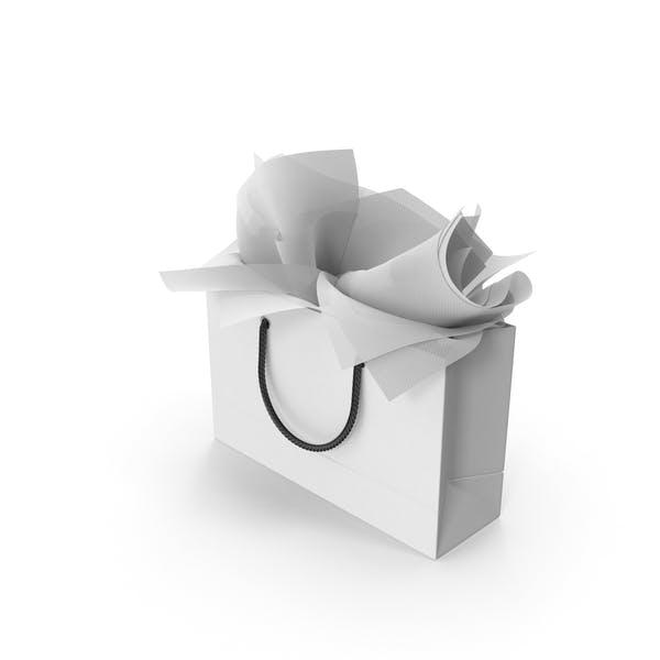 Сумка для покупок с белой подарочной бумагой