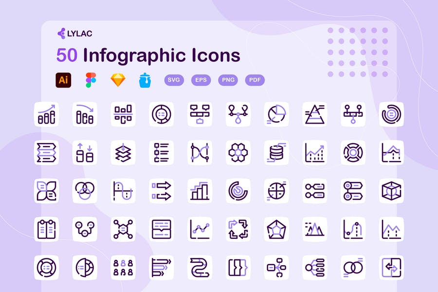 Lylac - Infographic Icons