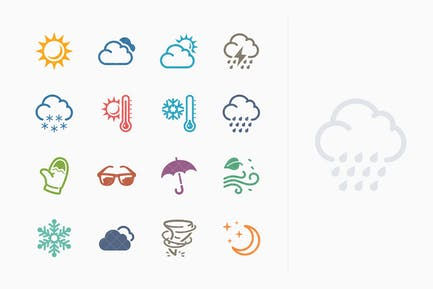 Wetter Icons - Colored Series