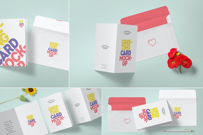 Thumbnail for Multipurpose Greeting Card Mockups