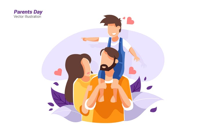 Thumbnail for Tag der Eltern - Vektor Illustration