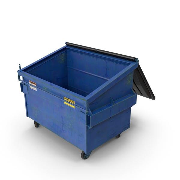 Открытая мусорная бака