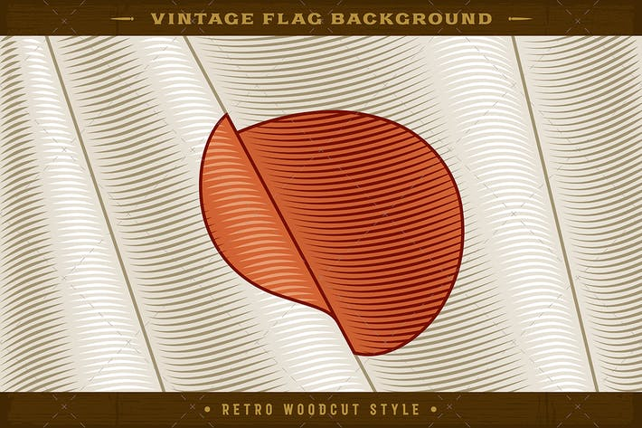 Thumbnail for Vintage Flag Of Japan. Close-up Background