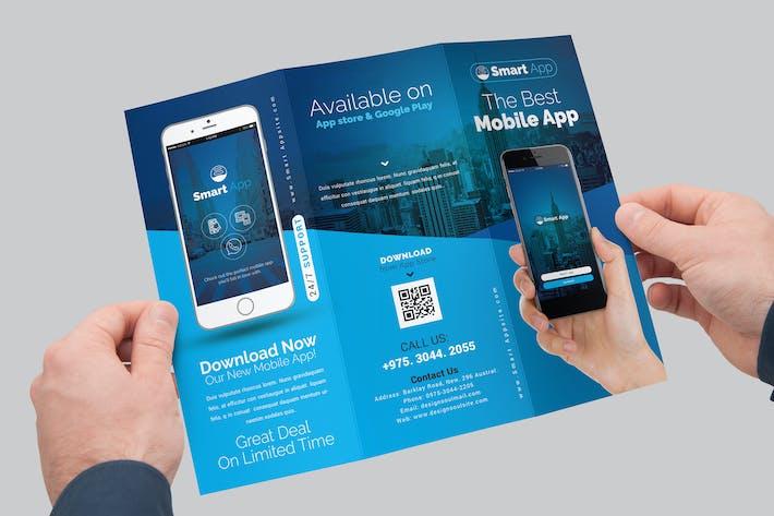Mobile App Tri-Fold Brochure