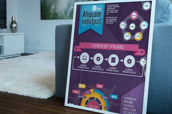 Cover Image For Minimal Infographics Elements & Template
