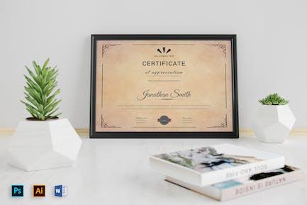 Vintage Certificates Template Microsoft Word