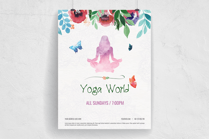 Thumbnail for Colorful Hand Painted Yoga World Flyer